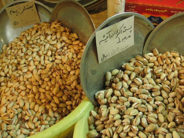 Bazar Isfahán pistachos