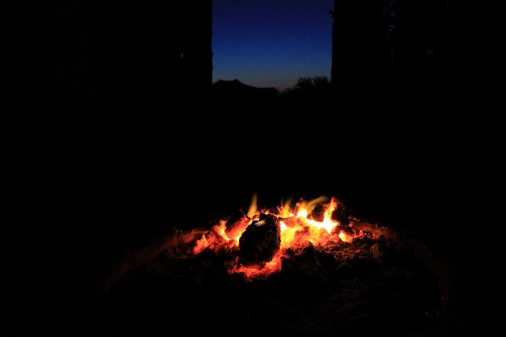 fuego amanecer