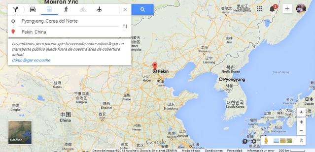 ruta pekin corea