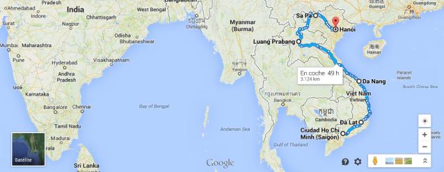 ruta vietnam laos