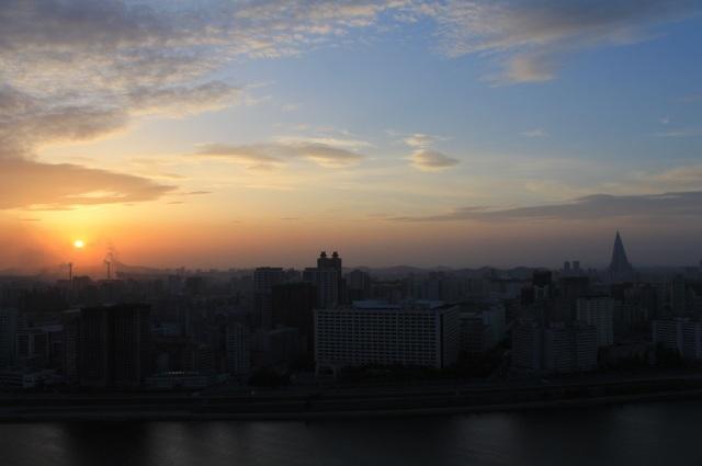 atardecer pyongyang