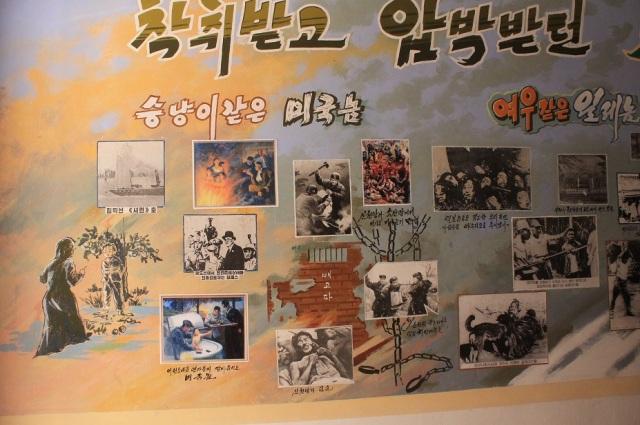 mural escuela norcoreana