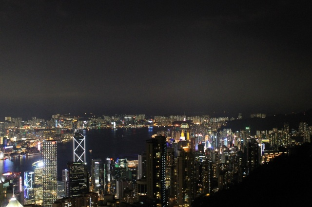 hong kong at night peak
