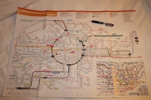 plano metro tokio