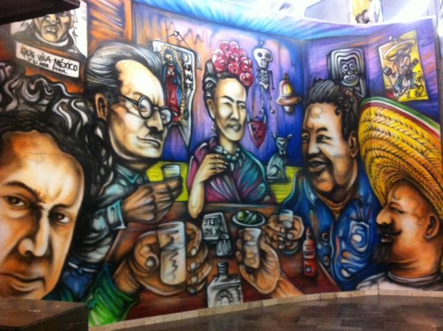 mural metro mexico